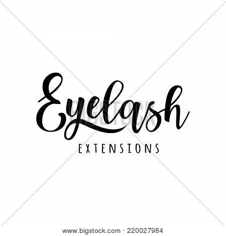 Eyelash extension logo. Vector illustration in a modern style. For beauty salon, lash extensions maker.