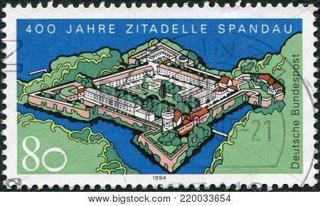 GERMANY - CIRCA 1994: A stamp printed in Germany, is dedicated to the 400th anniversary of the citadel of Spandau, circa 1994