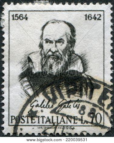 ITALY - CIRCA 1964: A stamp printed in Italy, shows Galileo Galilei by Guido Reni, circa 1964