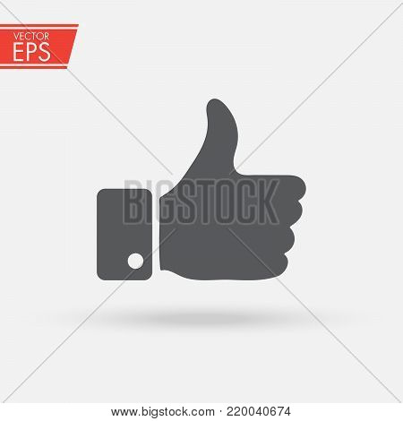 Thumbs up icon , like or dislike concept. Love, hate, for against, true, false, yes, no. Illustration symbol of hand success or fail. Accept and Good symbol.