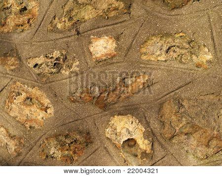 Stones Set In Cement