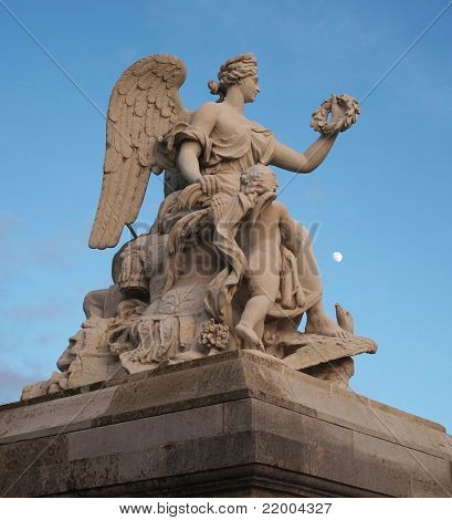 Winged Stone Statue