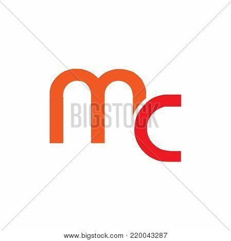 Letter MC, MC letter logo. Flat logo design.