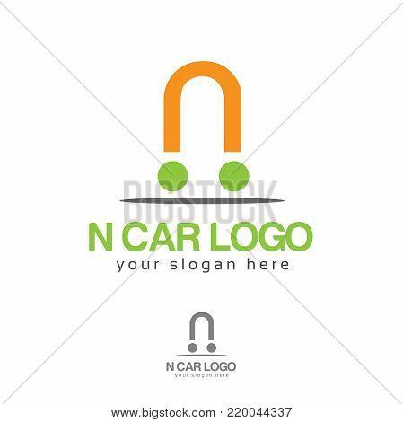 N car logo. N letter logo vector. Flat logo design.