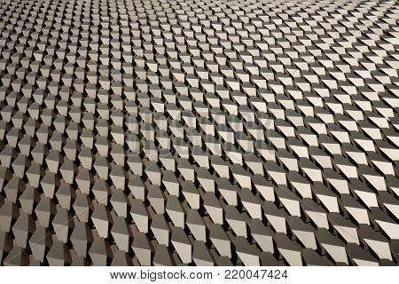 Low angle hexagonal alloy pattern in horizontal