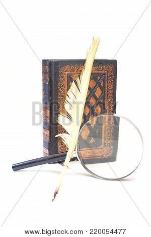 ancient book pen lens diary writing diary