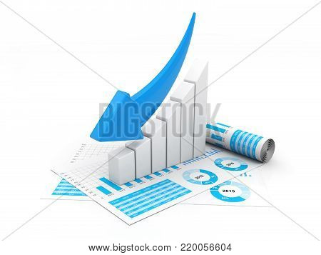 3d illustration Financial crisis concept, Economic Crisis. Business concept. isolated in white background