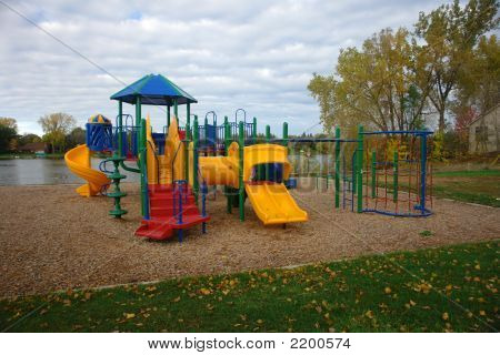 Playground By Lake