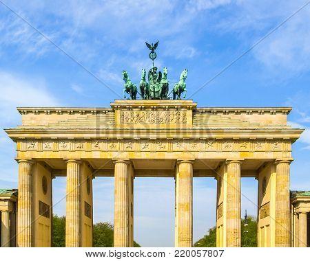 Brandenburger Tor (Brandenburg Gate), famous landmark in Berlin, Germany
