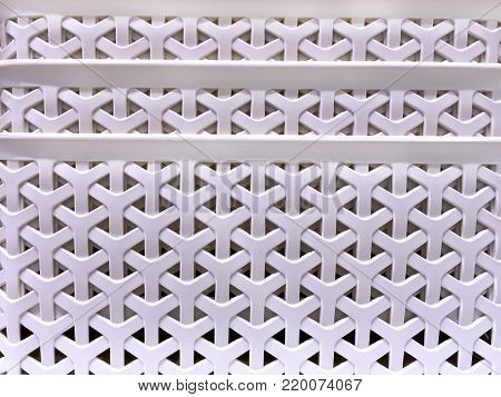 White Y-Shape Woven Plastic Basket Texture Background