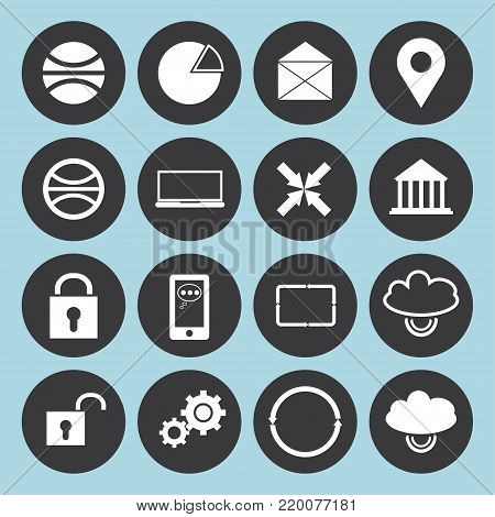 Set of web icons for business, finance and communication