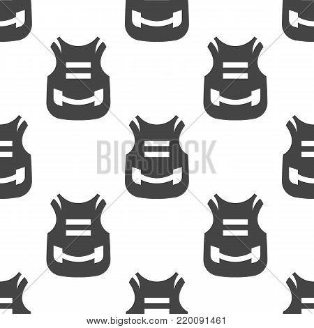 Bulletproof vest seamless pattern. Vector illustration for backgrounds poster