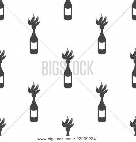 Fire bottle seamless pattern. Vector illustration for backgrounds