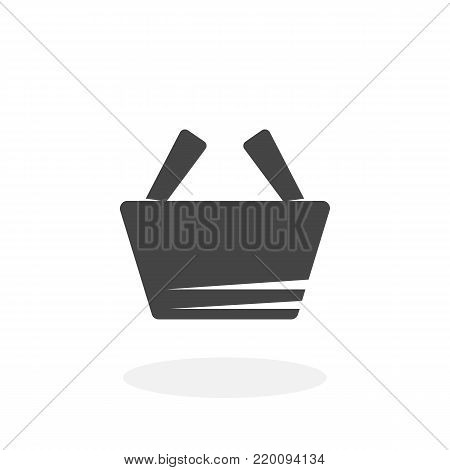 Shopping basket icon isolated on white background. Shopping basket vector logo. Flat design style. Modern vector pictogram for web graphics - stock vector