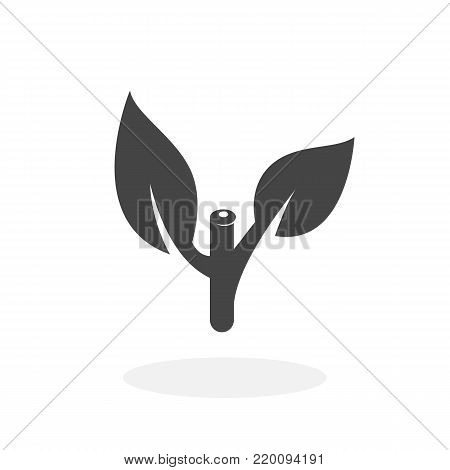 Plant icon isolated on white background. Cut plants vector logo. Flat design style. Modern vector pictogram for web graphics - stock vector