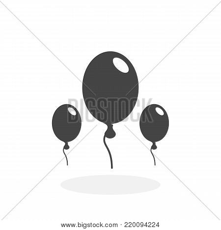 Balloons icon isolated on white background. Balloons vector logo. Flat design style. Modern vector pictogram for web graphics - stock vector
