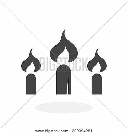Candle icon isolated on white background. Candle vector logo. Flat design style. Modern vector pictogram for web graphics - stock vector