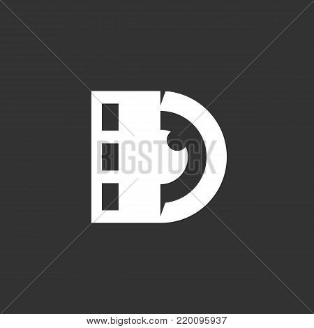 Lens with film icon illustration isolated on black background. Lens with film vector logo. Flat design style. Modern vector pictogram, sign, symbol for web graphics - stock vector
