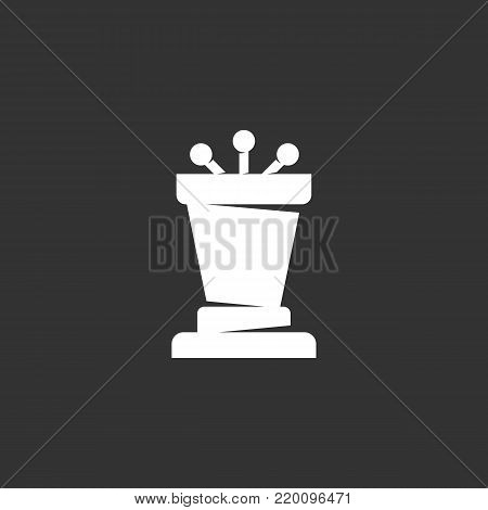 Podium icon illustration isolated on black background. Podium vector logo. Flat design style. Modern vector pictogram, sign, symbol for web graphics - stock vector