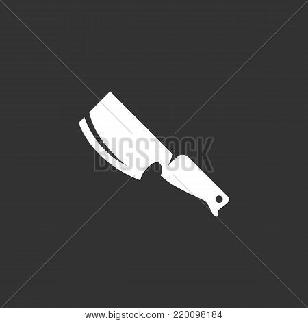 Knife icon isolated on black background. Knife vector logo. Flat design style. Modern vector pictogram for web graphics - stock vector