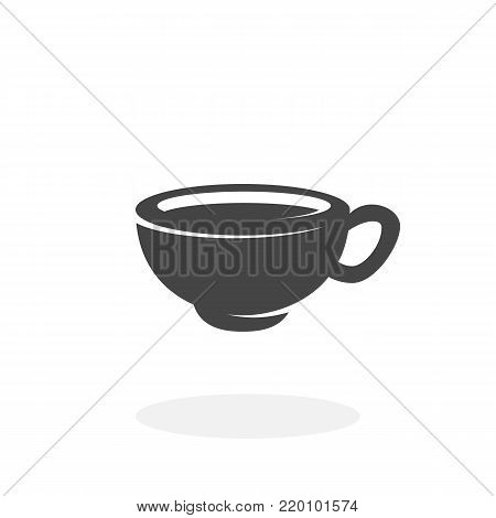 Coffee cup icon illustration isolated on white background sign symbol. Coffee cup vector logo. Flat design style. Modern vector pictogram for web graphics - stock vector