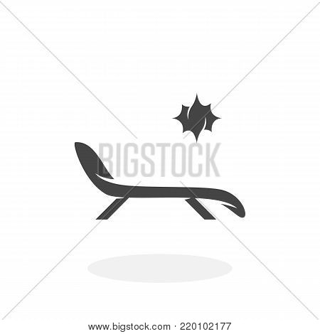 Sunbed icon illustration isolated on white background sign symbol. Sunbed vector logo. Flat design style. Modern vector pictogram for web graphics - stock vector