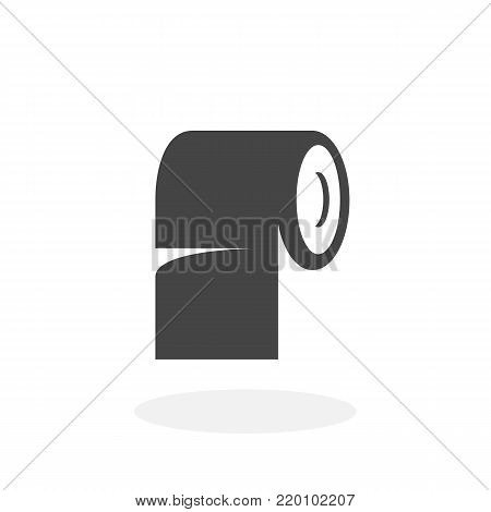 Toilet paper icon illustration isolated on white background sign symbol. Toilet paper vector logo. Flat design style. Modern vector pictogram for web graphics - stock vector