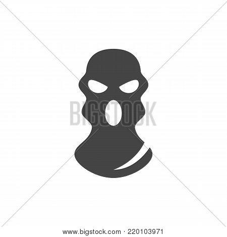 Bandit mask icon on white background. Bandit mask vector logo illustration isolated sign symbol. Modern pictogram for web graphics