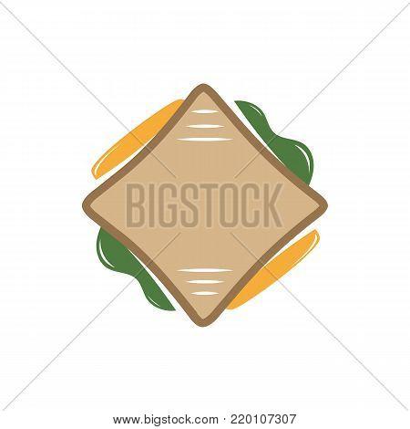 Sandwich vector logo on white background. Sandwich icon