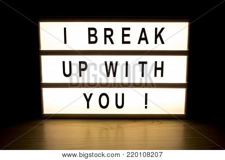I Break Up With You Hanging Light Box