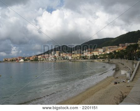 Beach Located In Ajaccio, Corsica