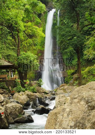 The Git Git waterfall. Bali island. Indonesia.