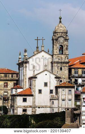 Our Lady of Vitoria Parish Church in Porto, Portugal, started in 1755, finished in 1769.