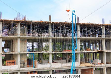 work construction in building high site workplace