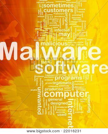 Background concept wordcloud illustration of malware international