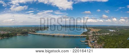 Aerial Photography Sarasin Bridge Phuket