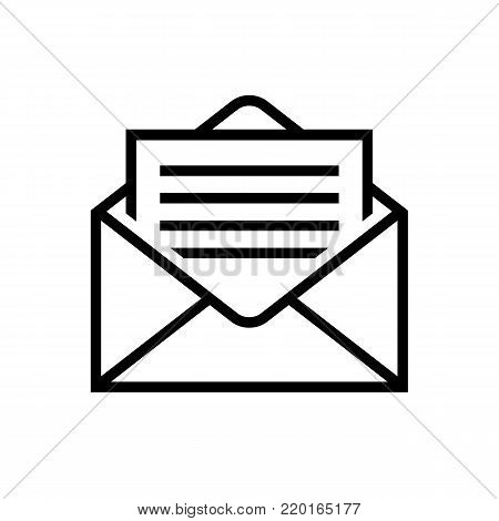 Mail icons. Letter in envelope. Mail delivery symbol. Web line sign. Letter, read message pictogramm. Vector illustration. Envelope icon. email design.
