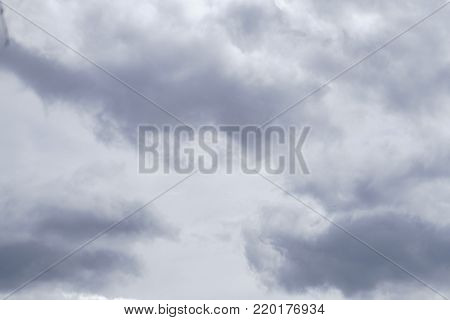 Dark clouds and thunderstorm with rainy, Dramatic black clouds in summe