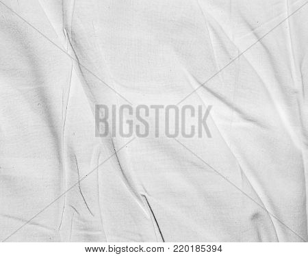 background of crumpled white tissue . Photo of an abstract texture