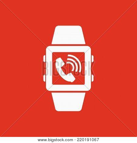 Smart watch icon. Mobile, clock, device symbol. Flat design. Stock - Vector illustration