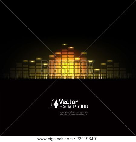 vector sound wave, abstract pulse background, sound background audio