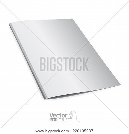Template folder, folder for documents, mockup document