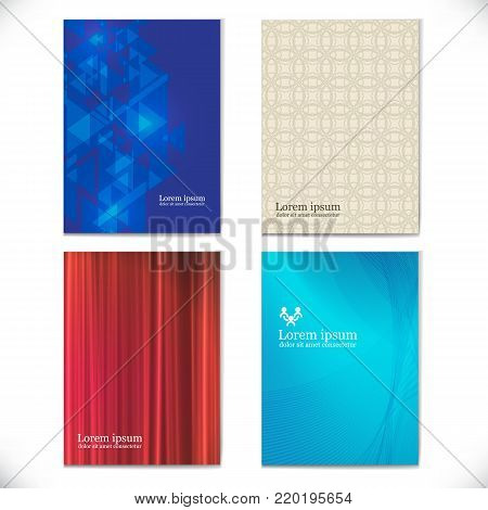 business brochures template for business mockup textbook