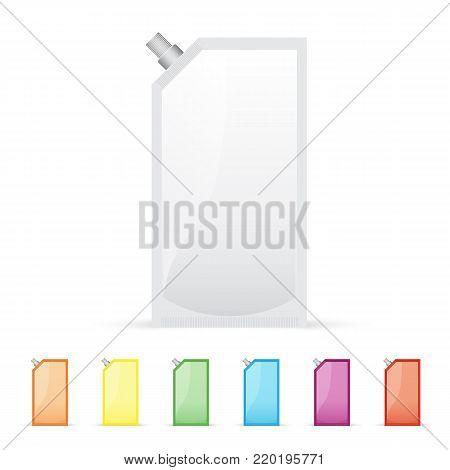 Blank foil or plastic sachet with valve, mock up