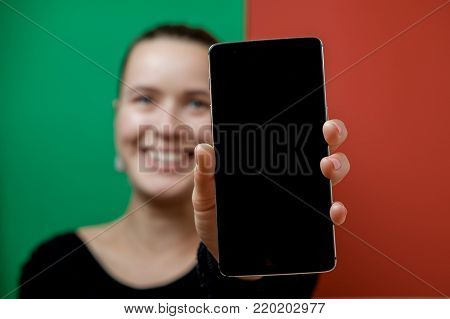 Young Woman In Glasses With A Cockleshell. Summer Concept