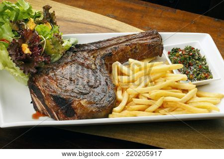 Rib Eye Steak with French Fries