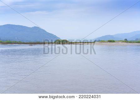Beautiful scenery of Nong Khai Grand Canyon or Phan Khot Saen Khrai in Mekong river , Nong Khai , Thailand