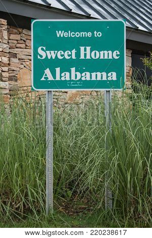 Welcome to Alabama Sign at interstate visitor center