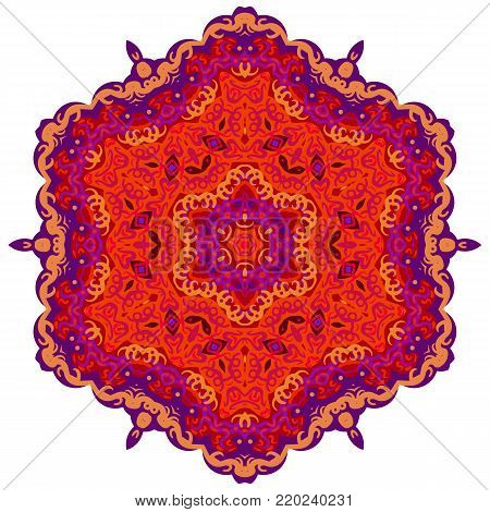 Mandala Vintage decorative elements. Oriental pattern, vector illustration ottoman motifs stock vector