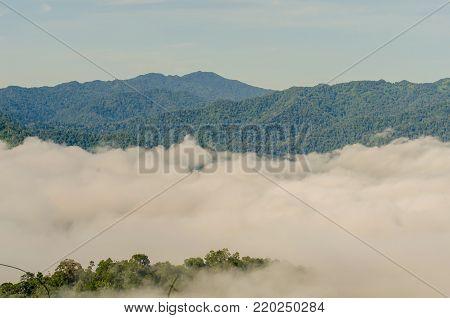 The Phanoen Thung mountain in Phetchaburi Thailand.